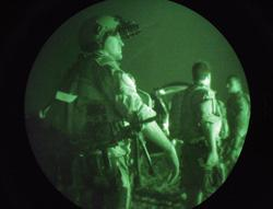 Navy SEAL seen through nigh vision. Click to expand image.