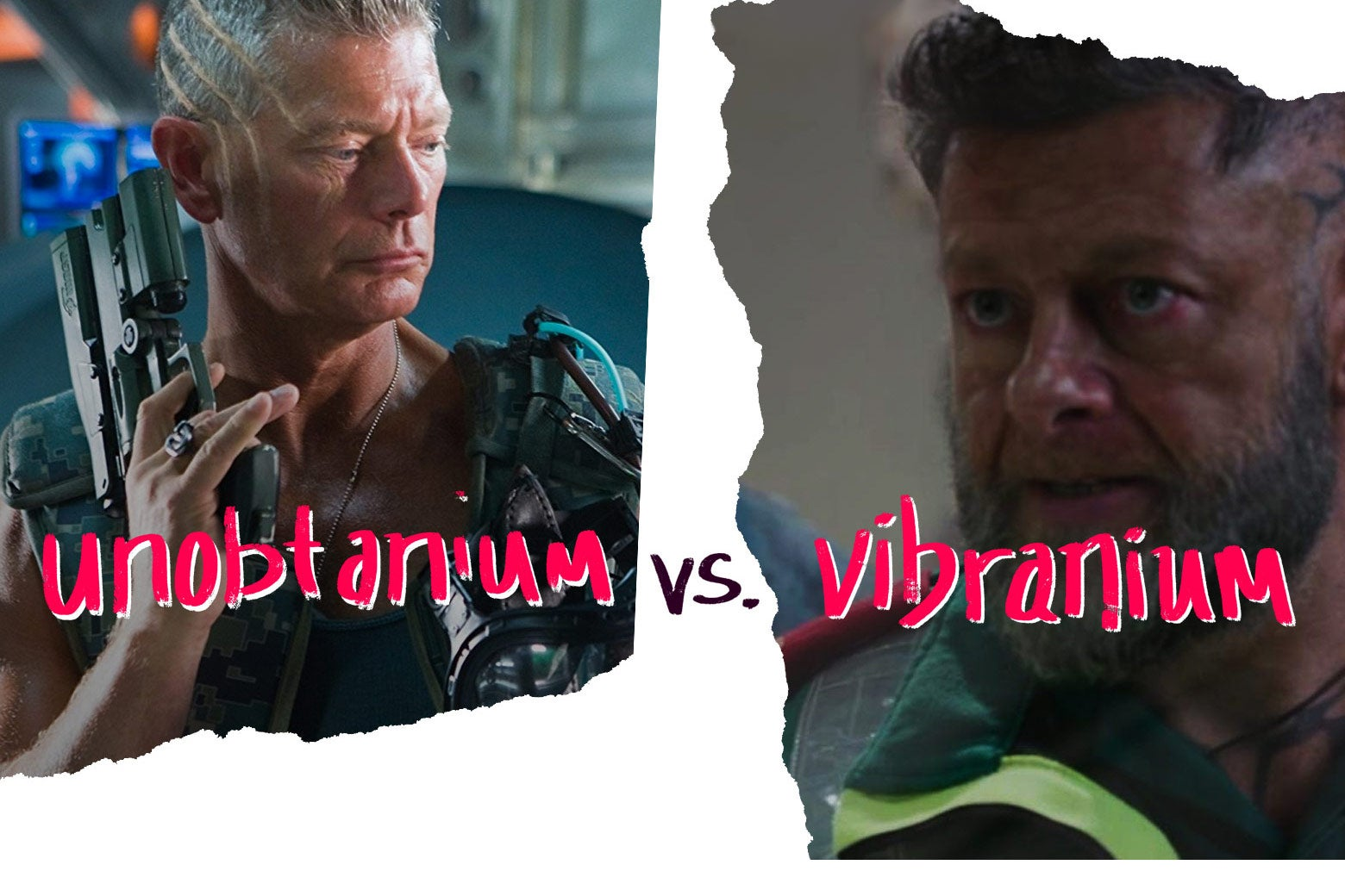 Col. Miles Quaritch from Avatar, played by Stephen Lang, and Andy Serkis' Klaue from Black Panther.