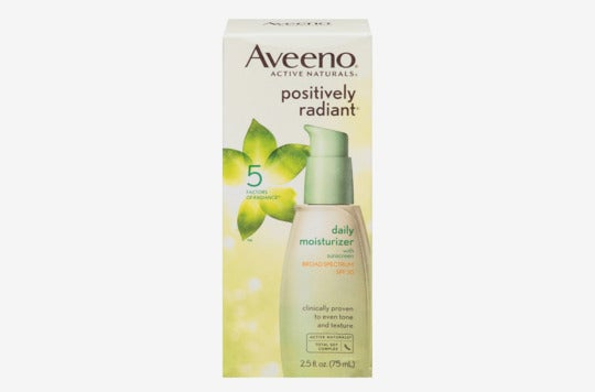 Aveeno Positively Radiant Daily Facial Moisturizer With Broad Spectrum SPF 30.