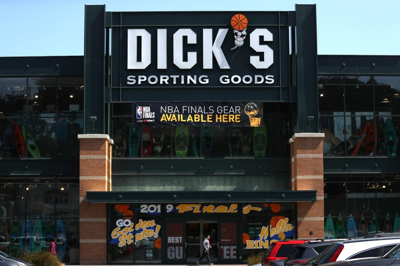 Facade of a Dick's Sporting Goods store.