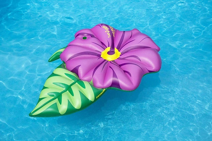Flower-shaped pool float