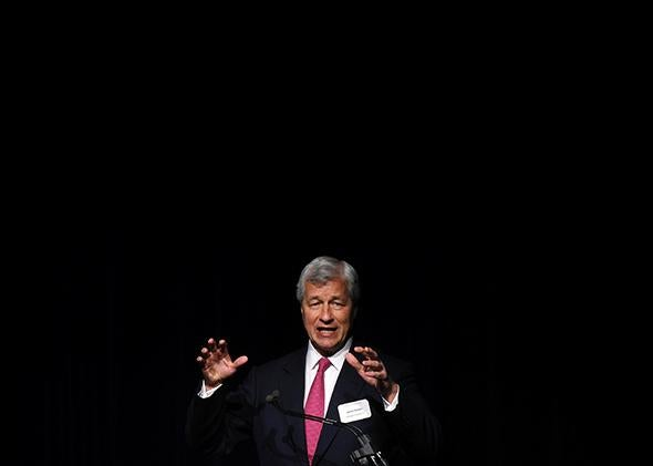 JP Morgan Chase CEO Jamie Dimon speaks during a luncheon May 21, 2014 in Detroit, Michigan.