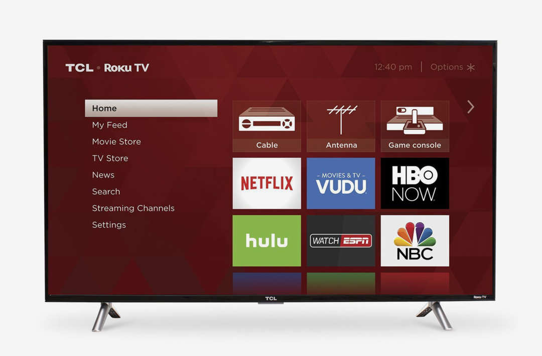 TCL 43S305 40-Inch 1080p Roku Smart LED TV.