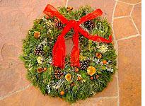 The author's wreath. Click image to expand.