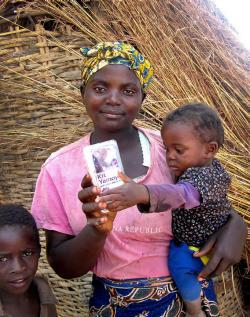 The mother had used Kit Yamoyo to treat her daughter the week before this picture was taken on December 13, 2012 in Katete District, Eastern Province, Zambia.