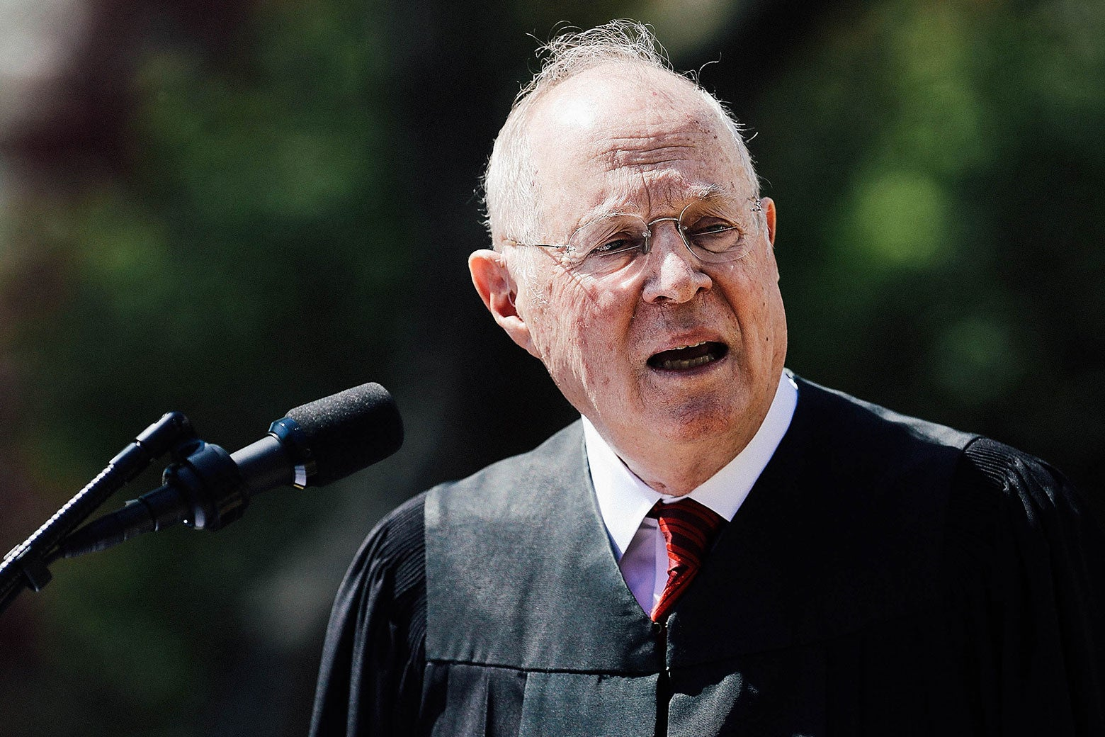 Supreme Court Justice Anthony Kennedy in the Rose Garden at the White House.