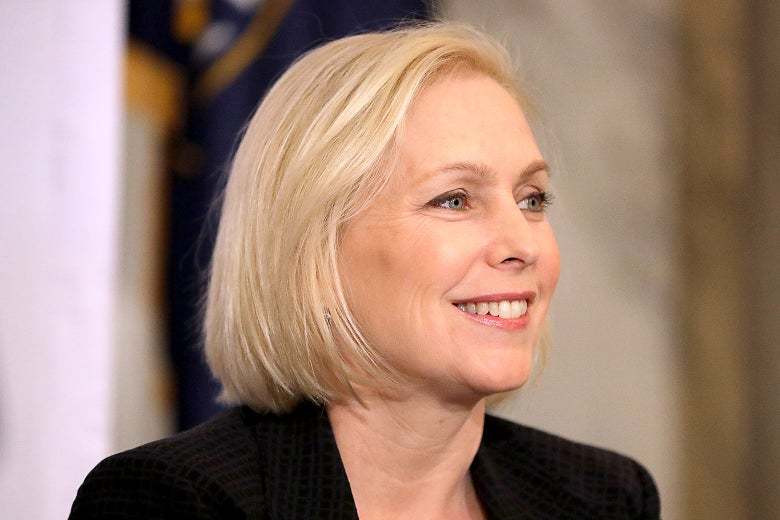 Sen. Kirsten Gillibrand attends a post-midterm election meeting of National Action Network on Nov. 14 in Washington.