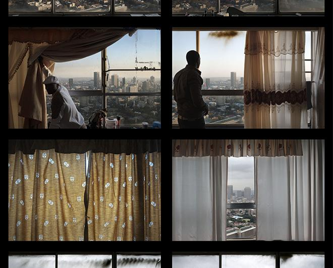 Contact Sheet From The Ponte City Project Showing Residents And Windows Of Their Apartments 2008