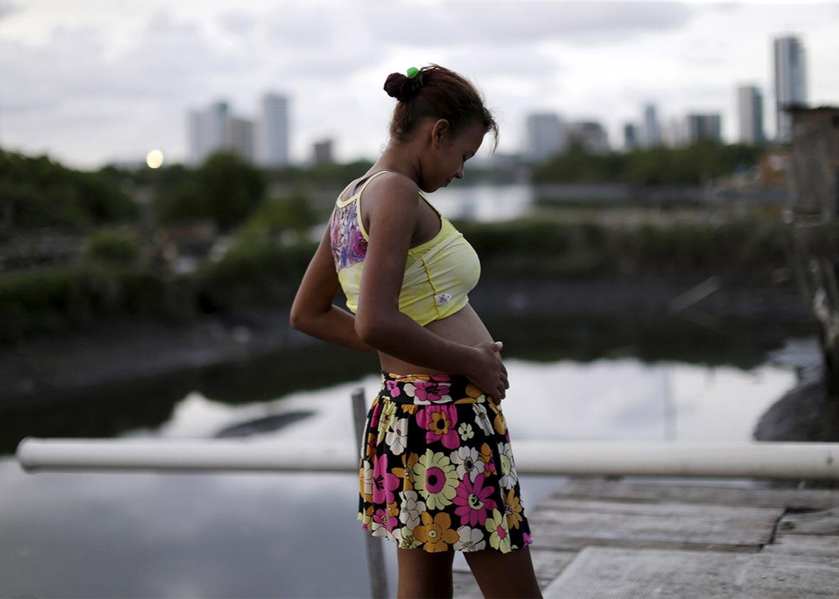 Pregnant woman in Recife, Brazil
