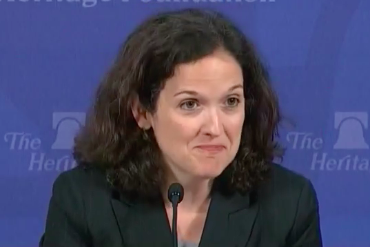 Sarah Pitlyk at a Heritage Foundation event.