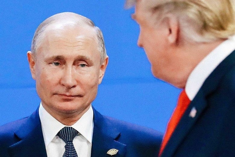 Trump looking at Putin.