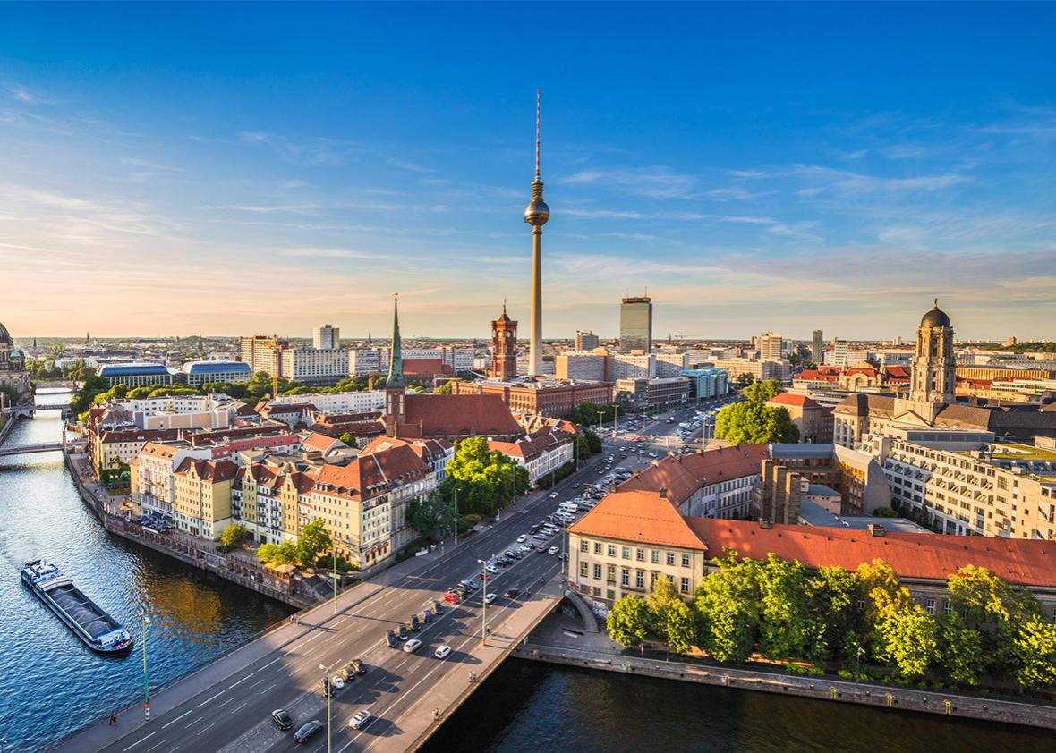 Berlin skyline, Germany.