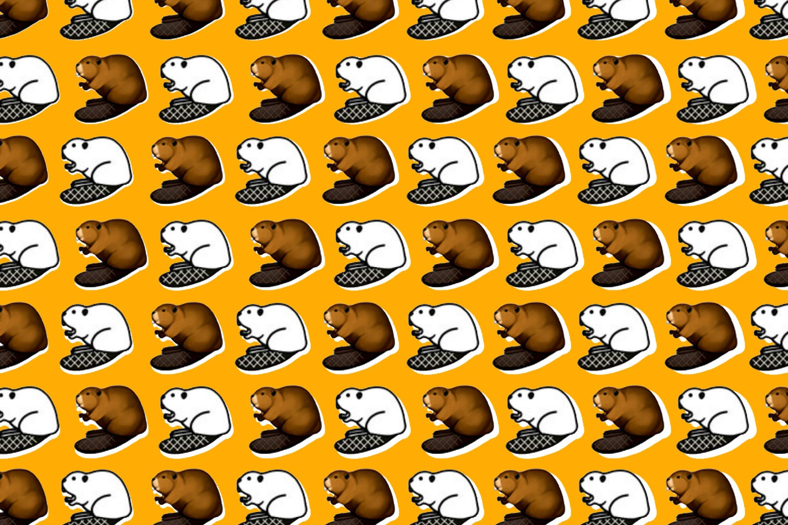 Beaver emojis! So cute.