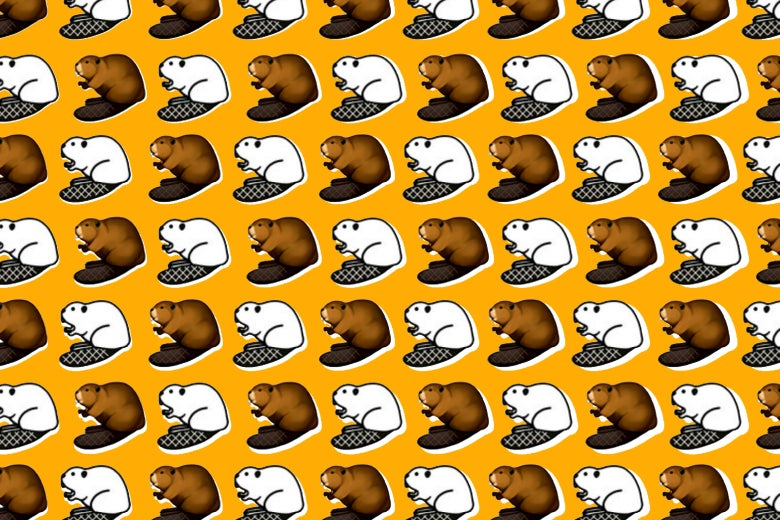 Beaver emojis! So cute.