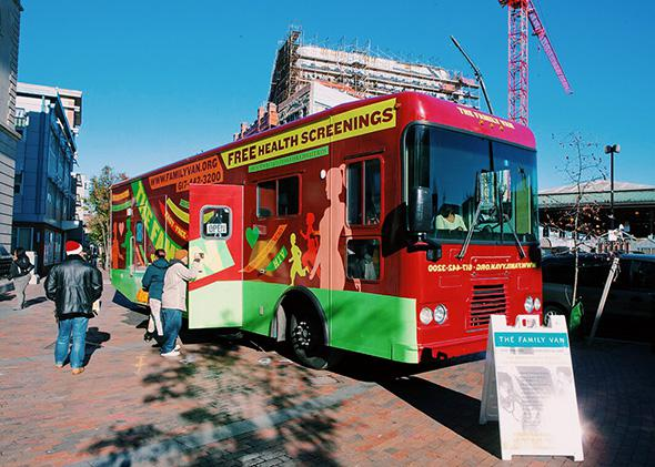 Mobile health clinics: Outcomes, community relationships, privacy