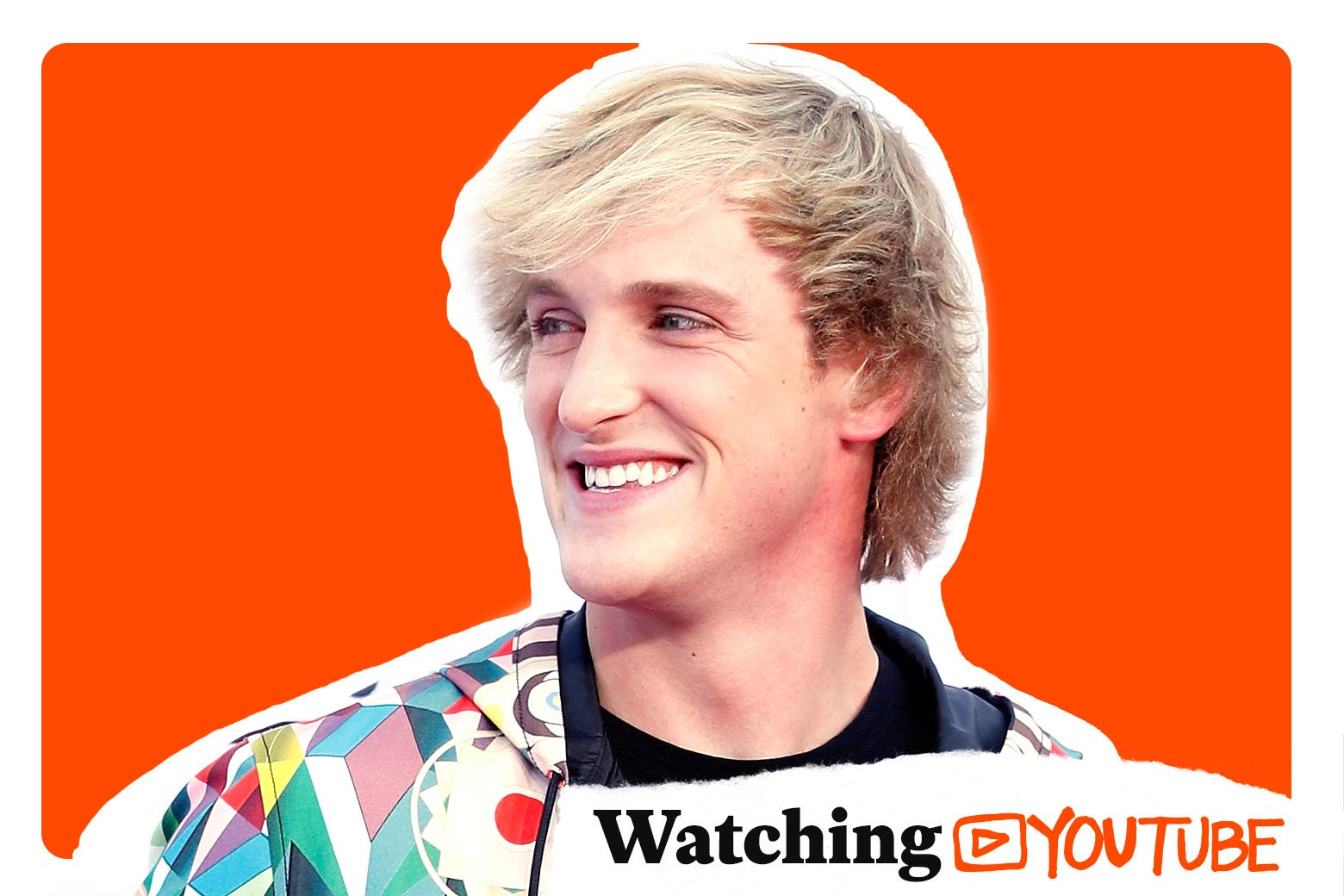 "Logan Paul, with a logo for ""Watching YouTube."""
