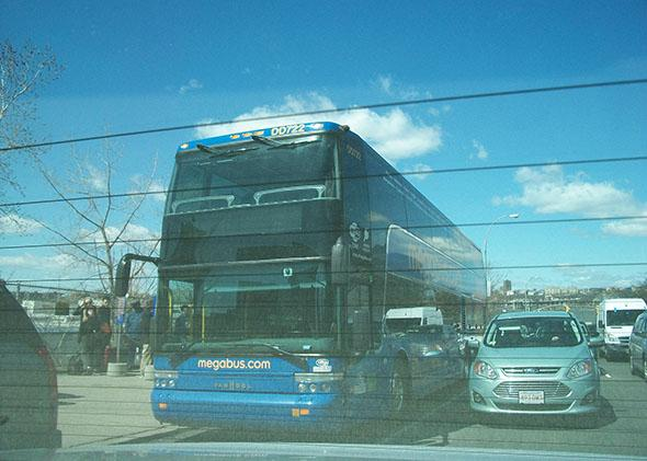 A Megabus bus, April 11, 2015.
