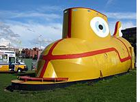 The soon-to-be-relocated yellow submarine