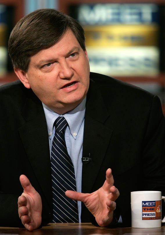 "Reporter James Risen of the New York Times and author of the book, ""State of War"" speaks during a taping of ""Meet the Press"" at NBC studios January 8, 2006 in Washington, DC."