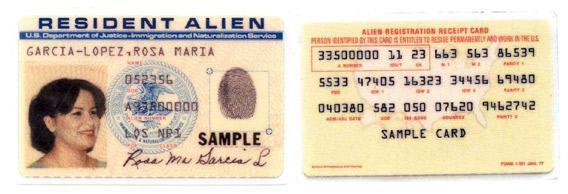Jan 1977 green card design.