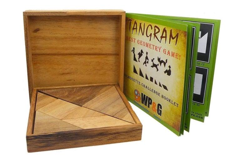 A box of Tangrams.