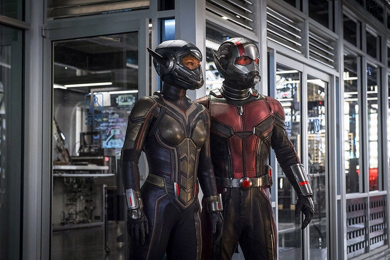 The Wasp (Evangeline Lilly) and Ant-Man (Paul Rudd).