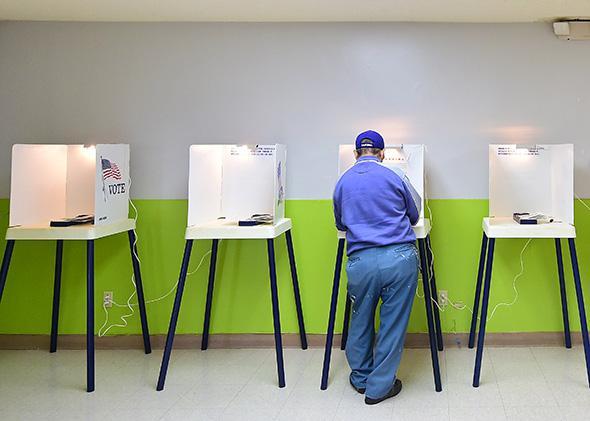Polling place, Pasadena, California, November 2014
