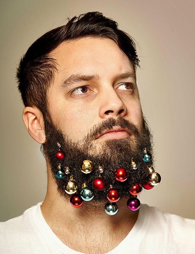 Christmas Hair.Beard Baubles Decorate Your Facial Hair This Christmas