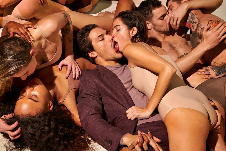 The Suitsupply ad in which a man a woman kiss each other with a lot of tongue, next to same-sex couples kissing. Basically it does not look like something you'd want to do during the coronavirus.