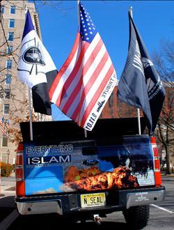 This truck belongs to Mark Anthony Niemczyk, Ground Zero's most eccentric huckster.