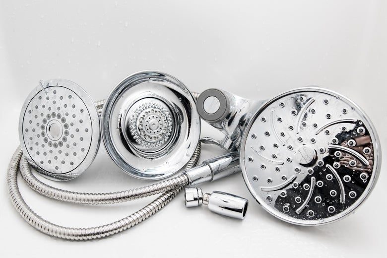 Three showerheads