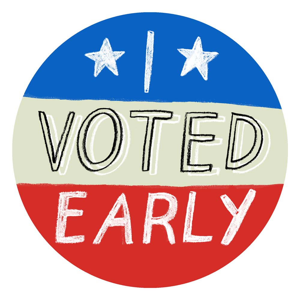 This is an image of Decisive I Voted Stickers Printable