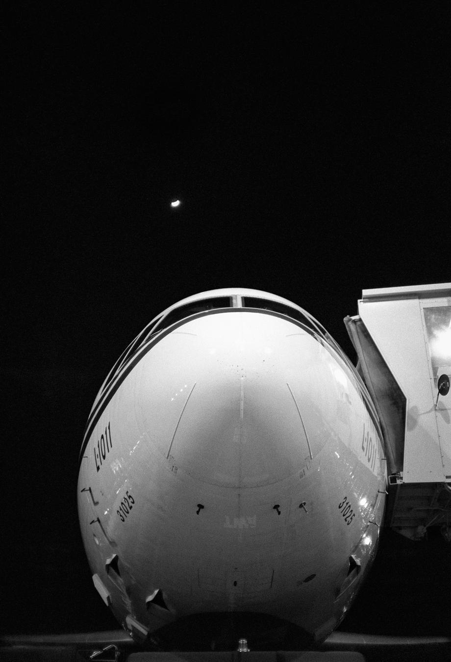 Moonrise Over Lockheed - JFK (The Flight Attendant Years), 1982, printed 2013archival pigment print