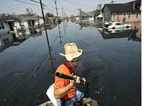 New Orleans' 9th Ward after Katrina.         Click image to expand.