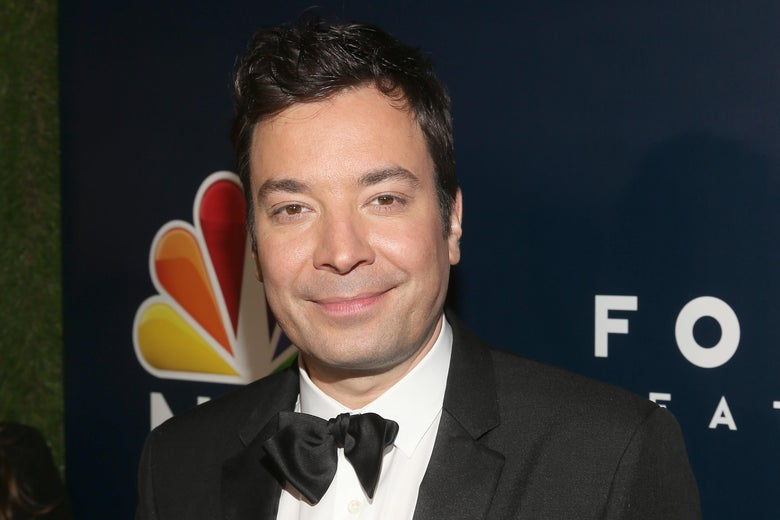 Jimmy Fallon attends a Golden Globes afterparty in 2017.