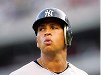 New York Yankee Alex Rodriguez. Click image to expand.