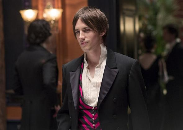 Reeve Carney as Dorian Grey.