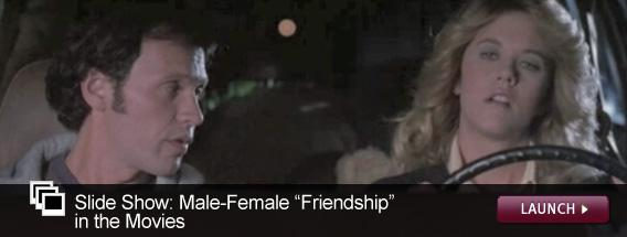"""Click here to launch a slideshow on the male-female """"friendship"""" in movies."""