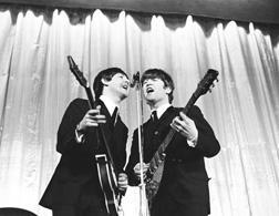 Paul McCartney and John Lennon. Click image to expand.