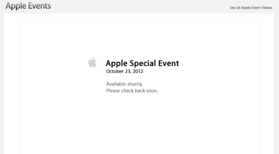 Apple is live-streaming its iPad Mini launch, but only for existing Apple customers.
