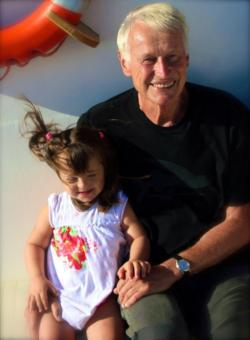 Wolfgang Nehring and his granddaughter Eurydice.