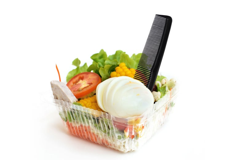 A salad with a comb
