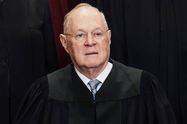 Anthony Kennedy in a black robe.