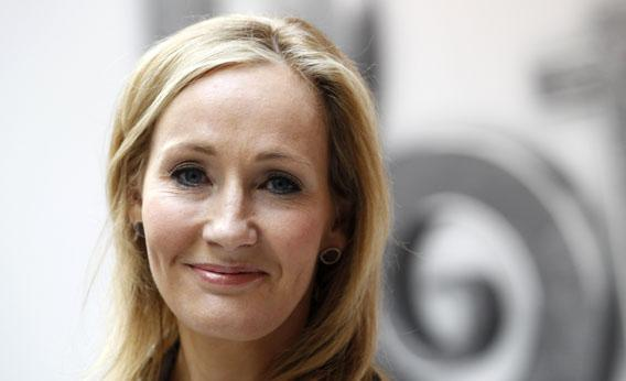 British writer J.K. Rowling, author of the Harry Potter series of books, invisibility cloak muse?
