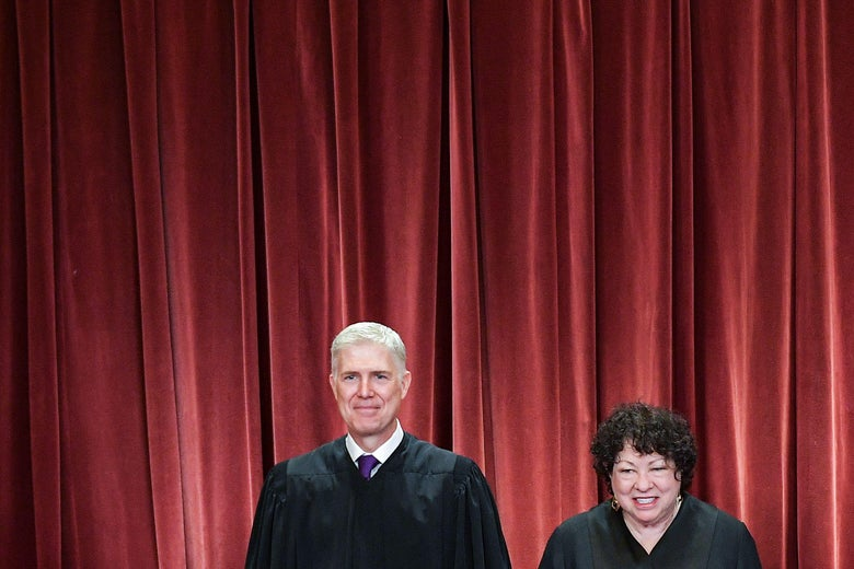 Justices Neil Gorsuch and Sonia Sotomayor
