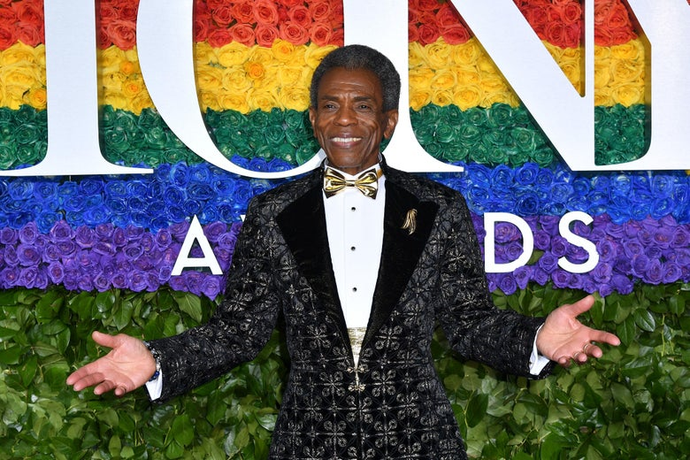 Andre De Shields on the red carpet.