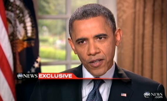 Obama speaks on gay rights.