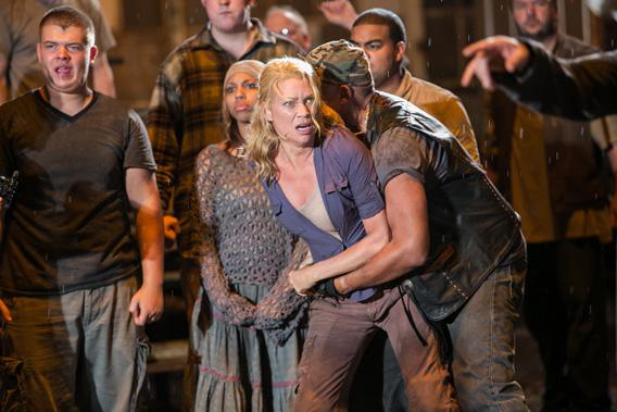 Andrea played by Laurie Holden in The Walking Dead.