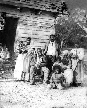 A slave family in South Carolina, 1862.