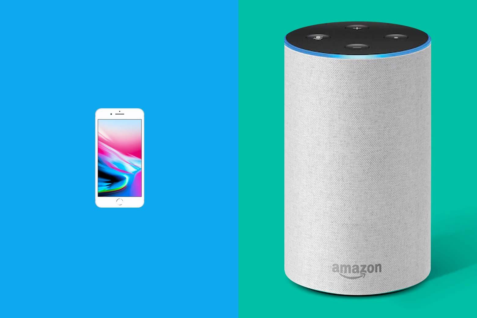 Left: iPhone Right: Amazon Echo